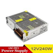 Regulado 12v 20a 240w fonte de alimentação motorista transformadores de luz 220v 110v ac dc12v fonte de alimentação para cctv câmera led monitor da lâmpada