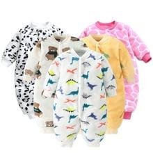 Spring Jacket Jumpsuit Romper Baby Clothes Flannel Bebe Girls Soft Newborn-Baby Infant