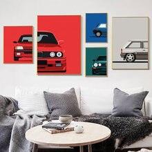 Nordic Плакаты wall art Холст Картины классический 90s автомобилей