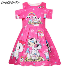 Baby Princess unicorn party Dresses Children Clothing For Girl Halloween Birthday Party Vestido Christmas Dress 1176 bbwowlin baby girl dresses suits vestido infantil for 0 2 years kids christmas birthday party 9071
