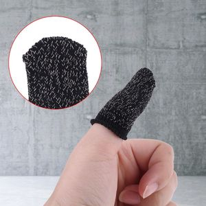 1Pair Sweat-Proof Knitted Fabric Finger Cover Game Touch Screen Finger Sleeves
