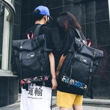 유행 더블 어깨 가방 유니섹스 여성 모두 유행 옥스포드 헝겊 가방 레저 아트 독특한 대형 배낭 인쇄