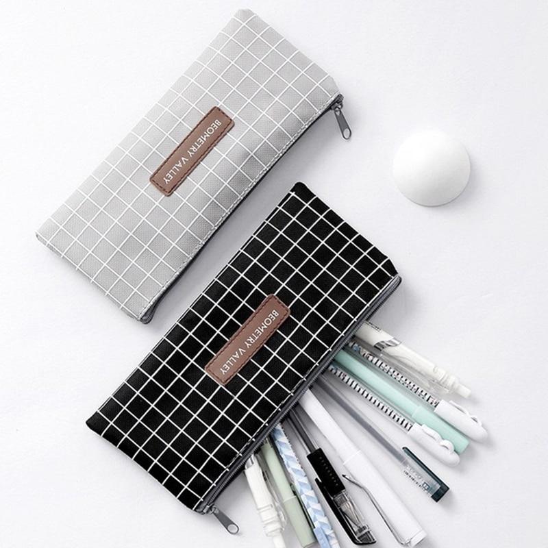 1 шт. новый простой для девочек и мальчиков школьный студенческий пенал косметички|Ящики и баки для хранения|   | АлиЭкспресс