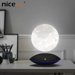 Ночник светильник с магнитной левитирующей 13,5 см 3D Лунная лампа 360 Вращающаяся плавающая сенсорная романтическая Подарочная украшение для ...