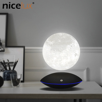 Night Light Magnetic Levitating 13.5CM 3D Moon Lamp 360 Rotating Floating Touch Romantic Gift Home Decoration for Bedroom Desk