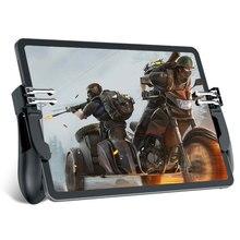 Neue H11 PUBG Gamepad Controller Sechs Finger Spiel Joystick Griff Für Ipad Tablet L1R1 Feuer Taste Ziel Schlüssel PUBG Trigger