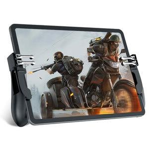 Image 1 - New H11 PUBG Gamepad Controller Six Finger Game Joystick Handle For Ipad Tablet L1R1 Fire Button Aim Key PUBG Trigger