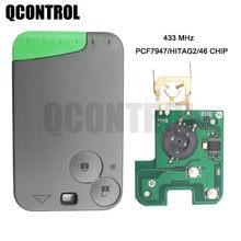 QCONTROL PCF7947 2 Botões Chave Remoto Inteligente Chip para Renault Laguna Espace Velsatis 2001 2002 2003 2004 2005 2006 2007 2008 2009