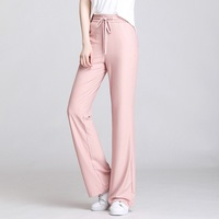 A179 Summer 2020 Korean version of high waist solid color casual pants loose trousers