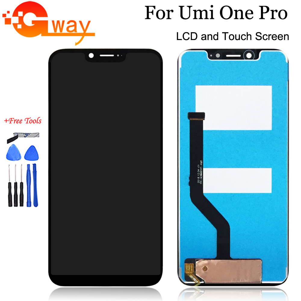 """Black 5.9"""" For UMI UMIDIGI One Pro LCD Display with Touch Screen Digitizer Assembly For UMI One Pro Phone Replacement With Tools"""