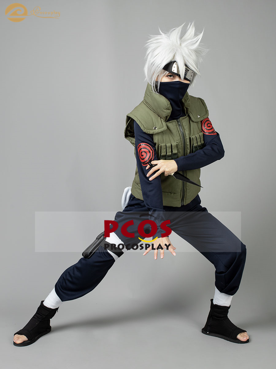 Uzumaki Naruto Cosplay Costume Wigs Shoes Whole Set Outfit Adult Kids Xmas Gift