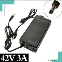 1PCS besten preis Intelligente Ladegerät 42V 3A für 10 Serie 36V 37V Li Ion E bike elektrische Ladegerät DC 5,5mm * 2,1mm Schnelle Lade