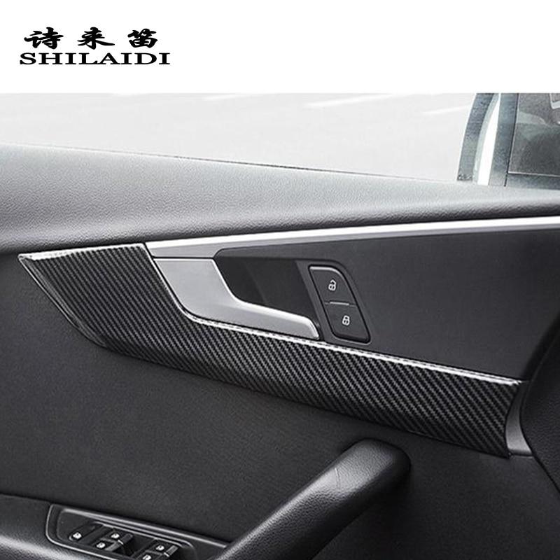 Grebest Car Interior Sticker Interior Decoration Car Sticker Carbon Fiber Car Console Control Upper Sticker Interior Decor for Audi A4 A5 B8