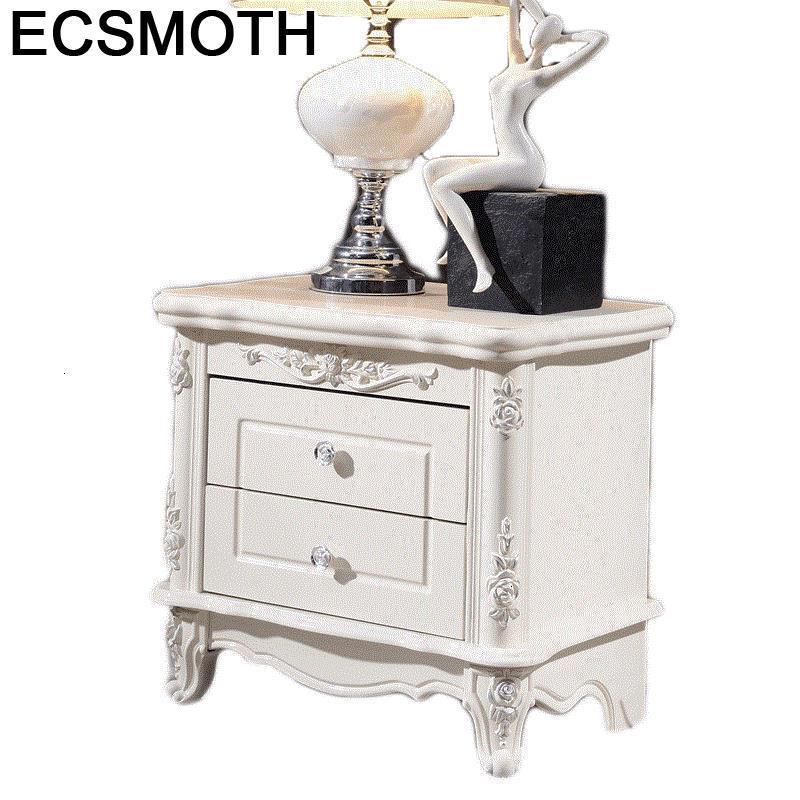 Legno Veladores Chambre Chevet Meuble European Wooden Mueble De Dormitorio Quarto Bedroom Furniture Cabinet Bedside Table