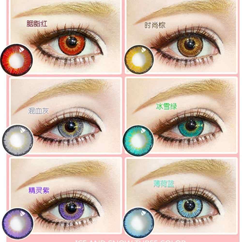 1 para kolorowe soczewki kontaktowe jedna para okrągłe soczewki oczu uczeń źrenica gałki ocznej dla oczu trwałe soczewki kontaktowe gałki ocznej