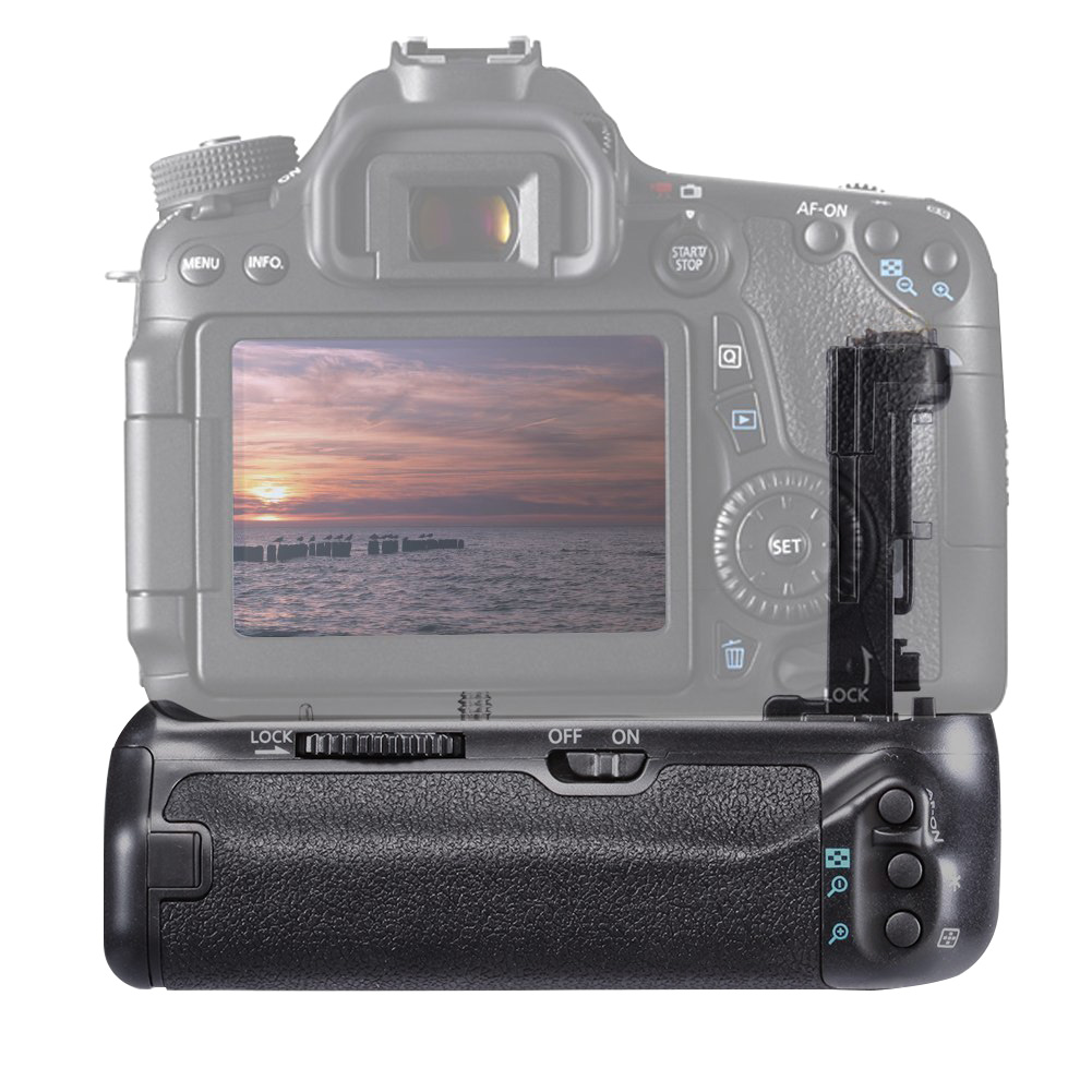 Anti Impact Replacement Accessories <font><b>Battery</b></font> <font><b>Grip</b></font> Balance Practical Camera Easy Install Vertical Shooting For Canon 70D <font><b>80D</b></font> image