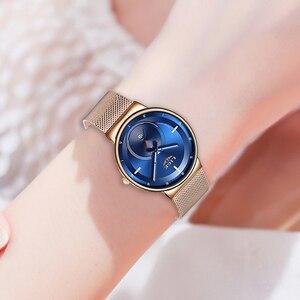 Image 5 - Relogio Feminino LIGE 2020 nowych kobiet zegarki niebieskie modne zegarki kobiety wodoodporny zegar Slim panie zegarek kwarcowy Relojes Mujer