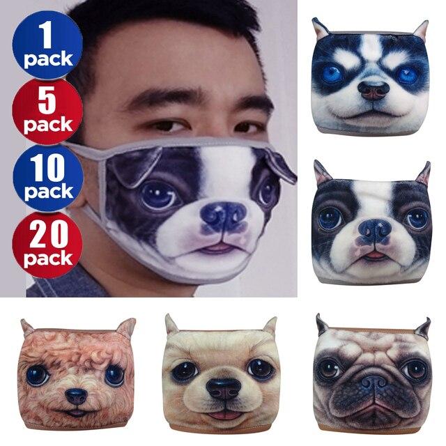 3D Cartoon Dog Face Mask For Women kawaii Hashiqi mascherine Anime Cotton Fashion Face Mouth Mask Cute Masks Dust Anti-Flu D40