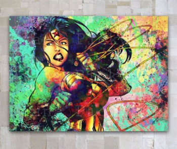 Handcraft Portrait oil painting on canvas(No frame)Wonder Woman 24x36inch