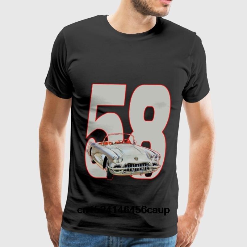 100% Cotton O-neck Custom Printed Men T shirt 1958 Corvette Women T-Shirt