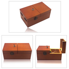 1 Set Creative Boring Box Wooden Storage Box ToySuper Funny Anti Stress Useless Box Gifts for Adults and Children Surprise Joke(China)