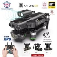 Nowy KAI MAX Drone profesjonalne 8K podwójny aparat GPS 5G Wifi 3-osiowy Gimbal 360 ° unikania przeszkód zdalnie sterowany Quadcopter 1.2km Dron zabawki