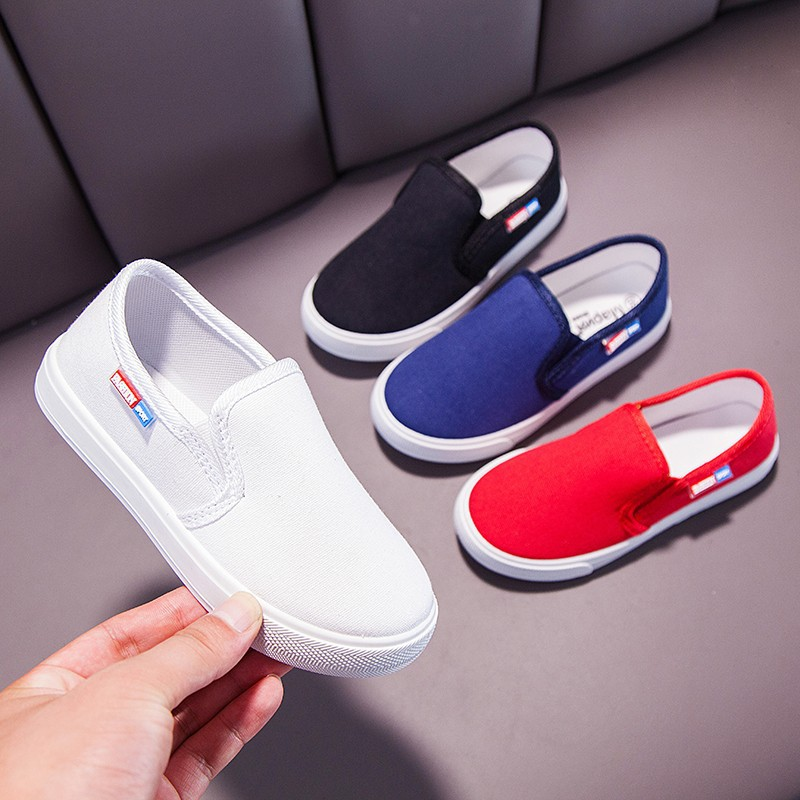 SKOEX Kids Canvas Shoes Slip On Boys Girls Fashion Sneakers 2020 New Spring Autumn Childrens Casual Loafres Espadrilles