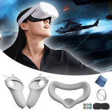 12Pcs/Set For Oculus Quest 2 VR Glasses Headset Helmet Eye Face Mask Cover Support for Quest2 Virtual Reality Accessories