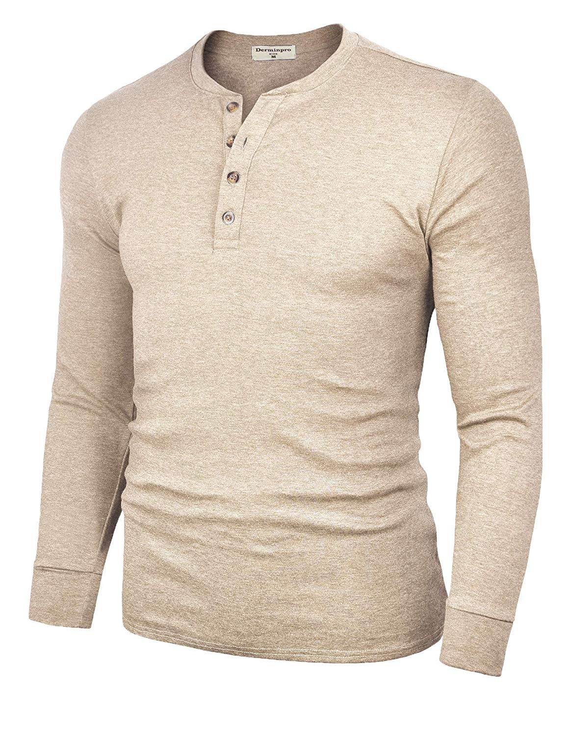 M220100 Men's Cotton Casual Long Sleeve Lightweight Basic Thermal T Shirts