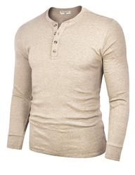 M220100  Men's  Cotton Casual Long Sleeve Lightweight Basic Thermal T-Shirts