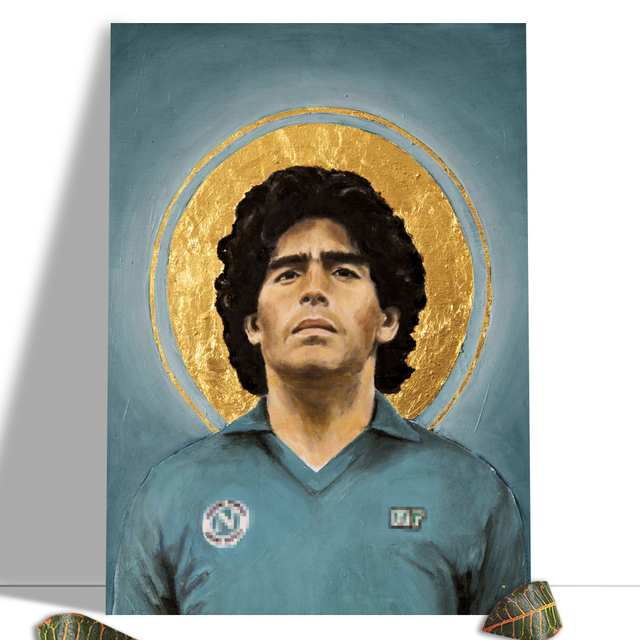 Diego Maradona Football Poster Canvas Comics Printed sports Decoration Painting Home Wall Living Study Room Child Room Bedroom 16