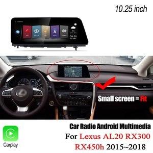 Image 2 - Автомобильный мультимедийный плеер Liorlee, для Lexus AL20 RX 300 RX 200t RX 450h 2015 2018, Android, Carplay, GPS, навигация, радио, стерео DVD