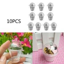 10 шт. мини-чашка для Мусса прозрачная пластиковая чашка для торта миниатюрная милая игрушка для игрового дома попкорн чашки для мороженого аксессуары для кукольного домика Декор