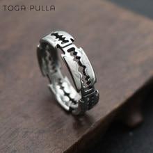 Vintage 316l aço inoxidável hip hop bladed anel moda punk rock anel direto da fábrica amante casal anéis para homem e mulher
