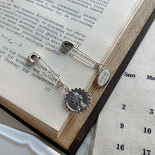 High quality fashion simple vintage sterling silver 925 womens creative pin lucky earrings jewelry