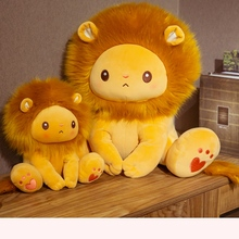 Nice New Hot Lion Plush Toy Soft Stuffed Cartoon Simulation Animal King Of The Forest Doll Baby Accompany Home Decor Best Gifts new simulation lion toy handicraft lifelike lion doll with a small lion in the mouth gift about 50x33cm