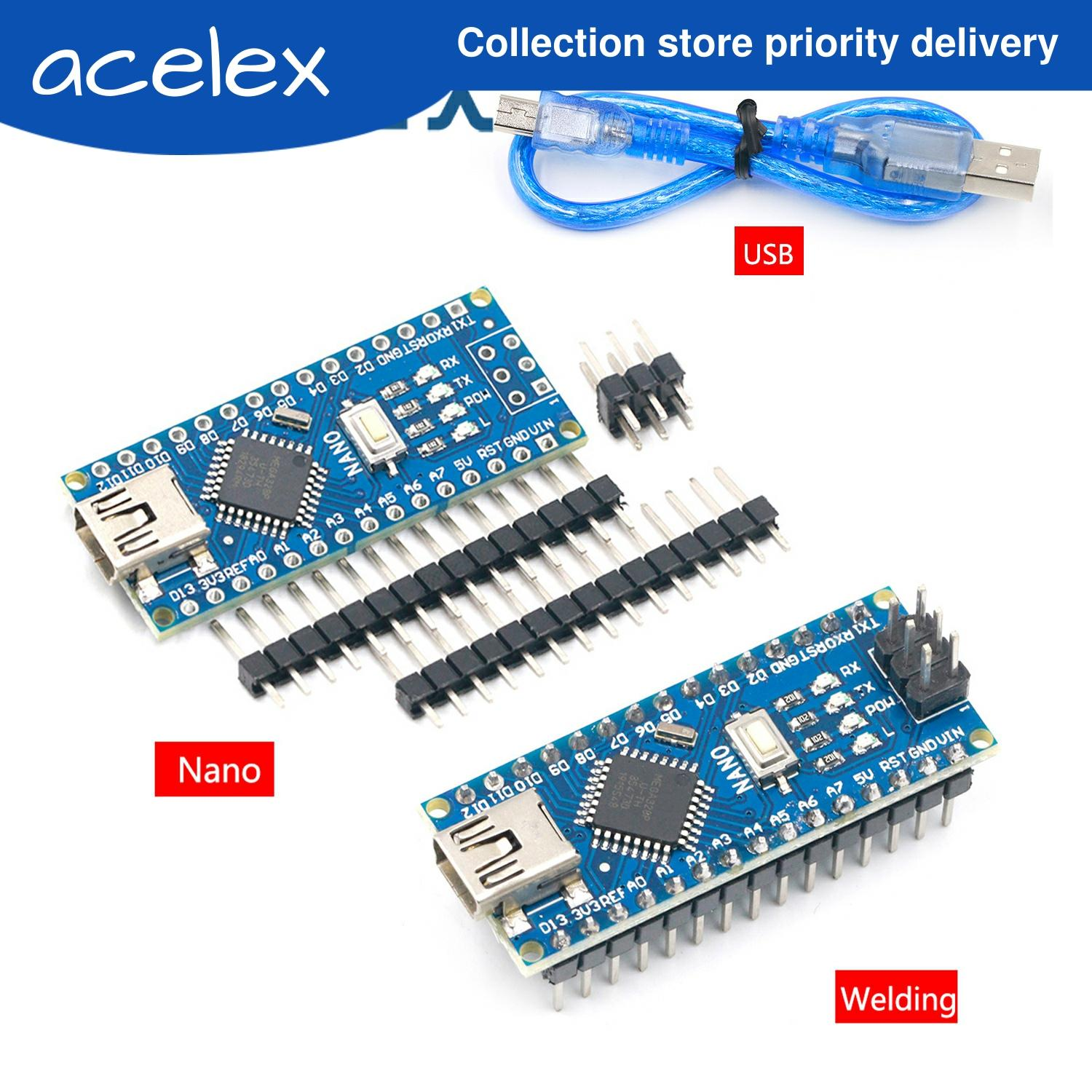 NANO V3.0 Controller Terminal Adapter Expansion Board NANO IO Shield Simple Extension Plate For Arduino AVR ATMEGA328P