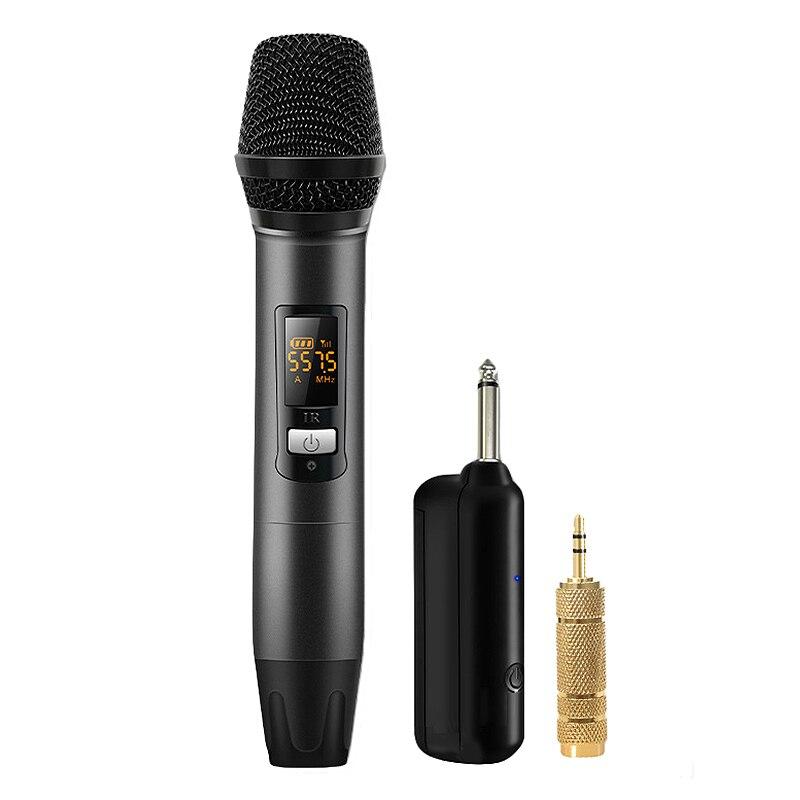 Беспроводная микрофонная система с приемником один для одного ручного микрофона для усилителя смесителя динамик Настольный автобус o