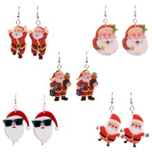 New Creative Santa Claus Earrings Cute Soft Ceramic Handmade Dangle Earrings 2018 Fashion Women Christmas New Year Gifts Jewelry(China)