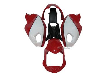 For Ducati 696 796 795 M1000 M1100 Monster Year 09 10 11 Red White Injection Mold Fairing Kit