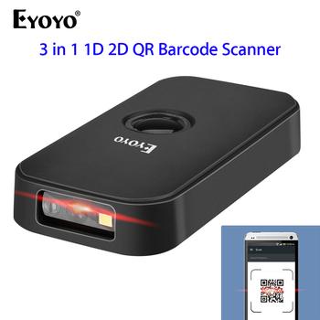 Eyoyo EY-009 1D 2D skaner kodów kreskowych Bluetooth i 2 4G bezprzewodowy czytnik kodów kreskowych czytnik kodów QR dla IOS iPad iPhone Android tablety PC tanie i dobre opinie 100 skanów sekundę CMOS Nowy Mar-13 światło laserowe