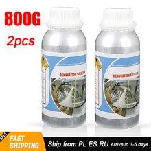 2020 New 2pcs*800g Weight Motorcycle Lenses Repair And Car Headlight Polishing Restoration Liquid