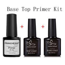 3 pçs manicure prego primer selo dessecante conjunto sem lavagem de longa duração prego gel primer manicure gel ferramentas da arte do prego dropship tslm2