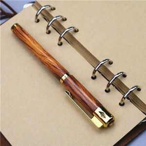 Image 5 - Wood grain 0.5mm gel pen plastic pen rubber slip grip School office writing gift supplies