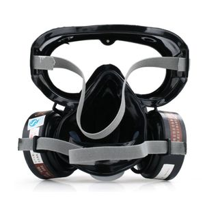 Image 3 - 1Set 9600A One Piece Full Face Respirator Dust Gas Mask for Painting Spary Smoke Fire Synthesis Protection E65A
