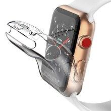 Прозрачный защитный чехол все включено для Apple Watch 5, 4, 40 мм, 44 мм, 360, прозрачный чехол из ТПУ, полный Чехол для Iwatch 3, 2, 1, 38 мм, 42 мм