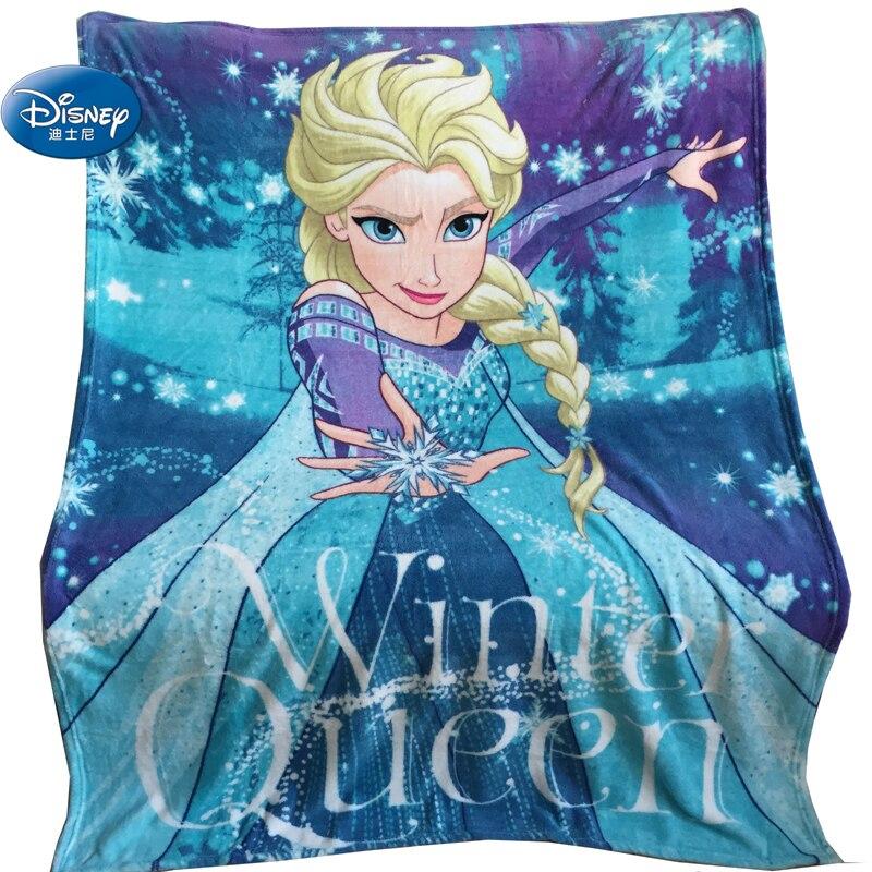 Couverture en molleton de corail pour filles | Princesse Disney, bleu ciel reine des neiges, couverture d'hiver, Super douce, pour cadeaux d'anniversaire, pour enfants en bas âge