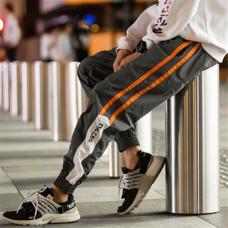 Хип Хоп Уличная Мужская одежда, брюки для бега, модные мужские повседневные брюки карго, брюки шаровары с высокой уличной эластичной талией Повседневные брюки      АлиЭкспресс