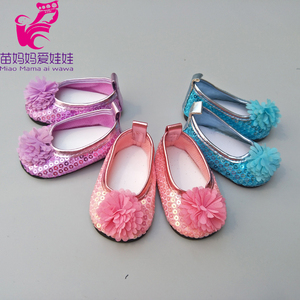 """Image 4 - Doll shoes for 43 cm new born baby Doll black white Prink Shoes For 18"""" Girls Doll shoes sneacker doll Accessories"""