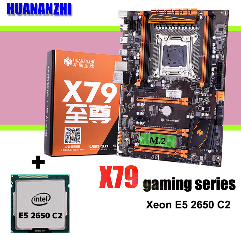 HUANANZHI deluxe X79 LGA2011 gaming motherboard bundle processor Xeon E5 2650 computer hardware DIY welcome to WUSON store image